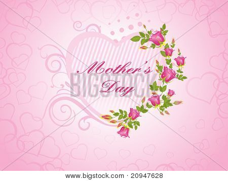 pink macro background with rose flower with heart frame