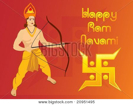 happy ramnavami, abstract swastika vector illustration