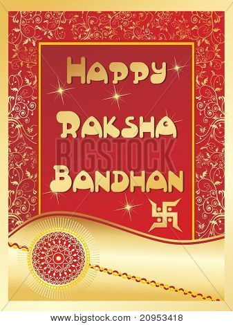 abstract stylish pattern background for rakshabandhan
