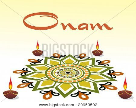 background for onam celebration, vector illustration