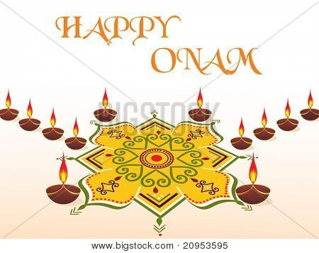 happy onam backgound, vector illustration
