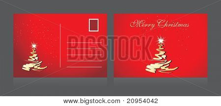 background with isolated merry christmas postcard