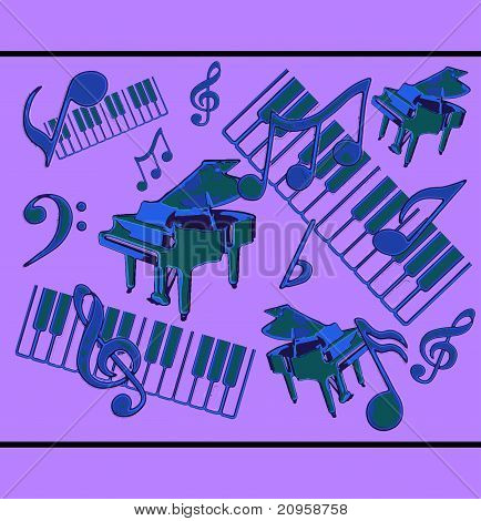 Abstract Musical Display Vector