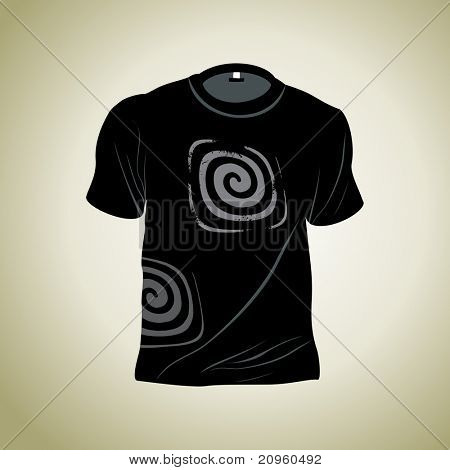 background with abstract design tshirt, illustration