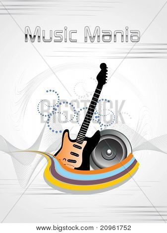 abstract music mania background illustration