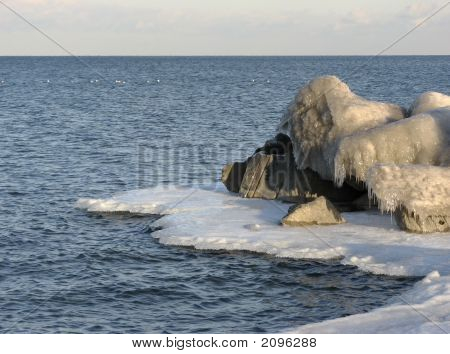 Ice Encrusted Rocks