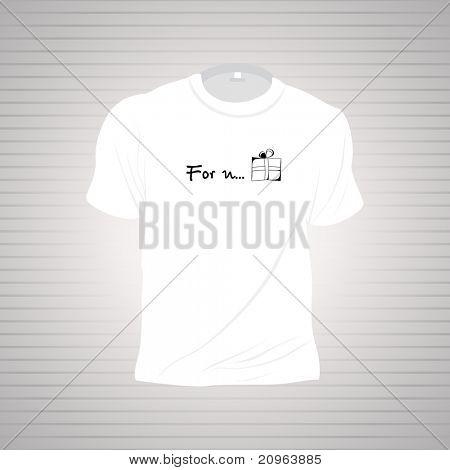 white tshirt isolated on grey background