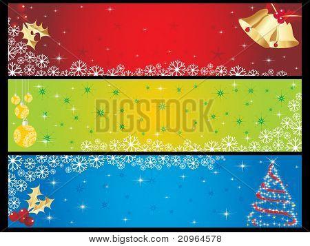 stylish pattern merry xmas banner, vector illustration