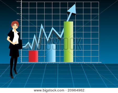 business women showing business growth