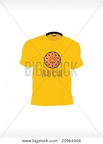 background with isolated tshirt, vector illustration