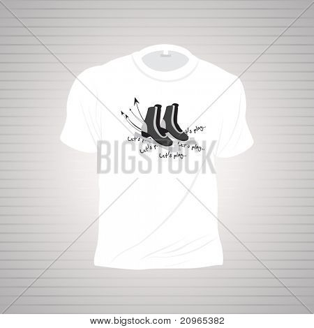 background with isolated sports tshirt, illustration