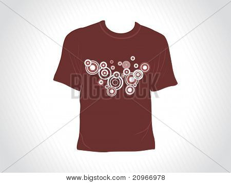 abstract grey panel lines background with isolated brown tshirt