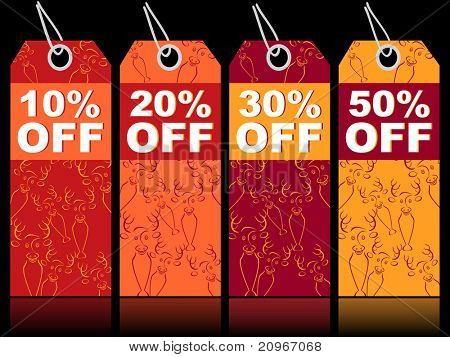 vector illustration for new year sale tag
