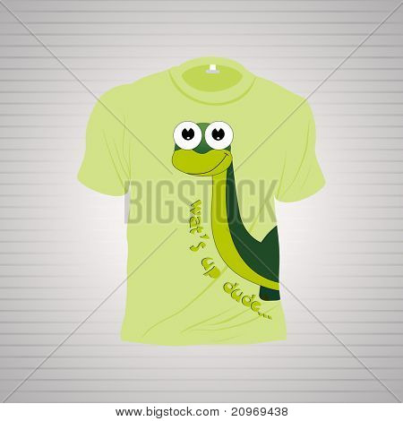 isolated white tshirt on grey background, illustration