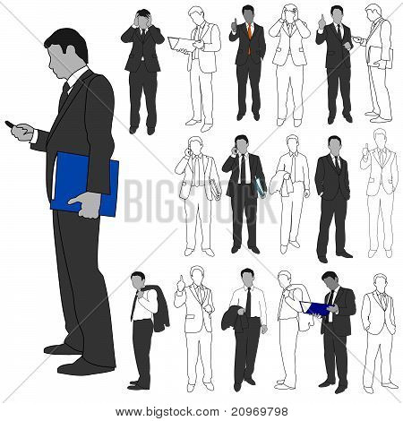 Business Men Group Set