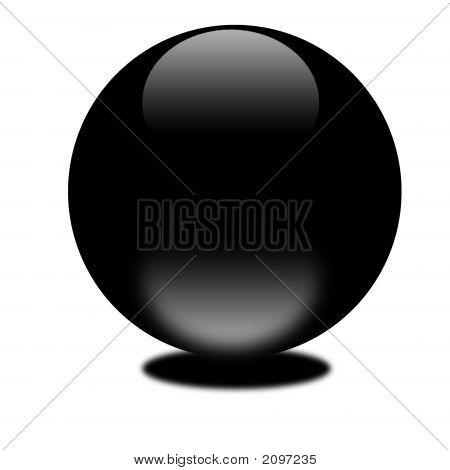 Black 3D Sphere