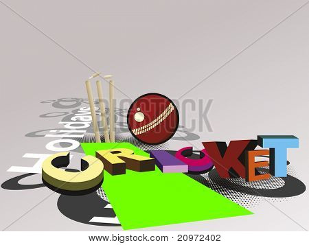 vector illustration of abstract cricket concept background, vector illustration