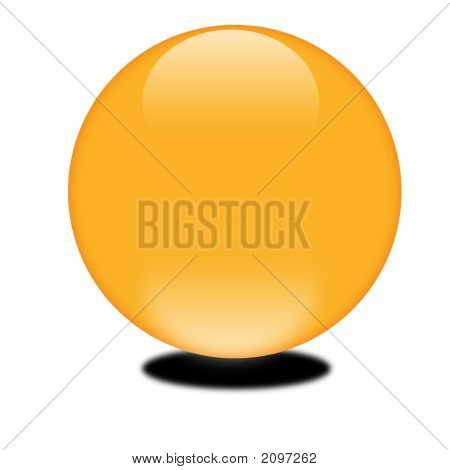 October Orange 3D Sphere