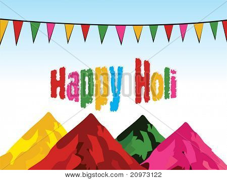 abstract colorful powder with background, vector for holi