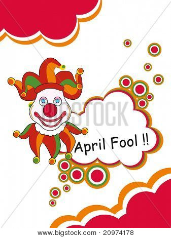 abstract humorous concept background for fools day celebration