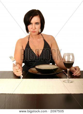 Woman Demanding Food