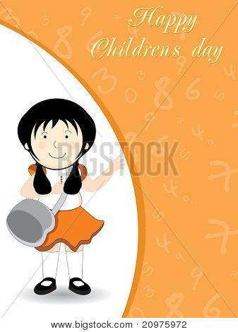 abstract kiddish concept background for happy children's day