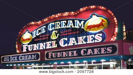 Carnival Concession Funnel Cakes