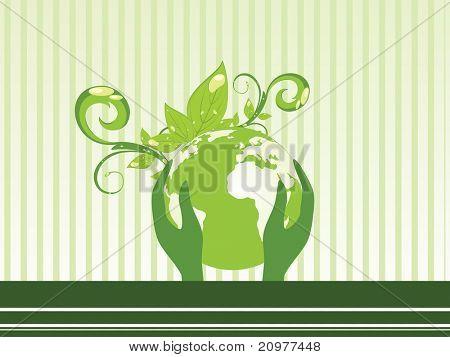 vector illustration for go green