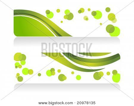 background with set of two ecology concept header