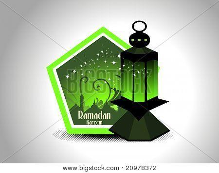 abstract ramazan background with lantern