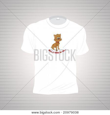 white kiddish tshirt isolated on grey background