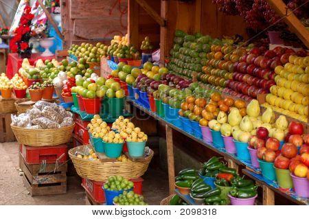 Fruitstand In Market