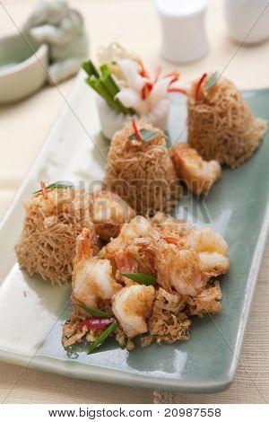 Mee Krob, Thai Crispy Noodles With Sweet & Sour Sauce
