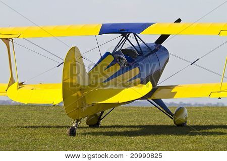 Close Up Of A Colourful Biplane