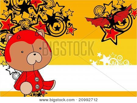 teddy  devil plush cartoon background