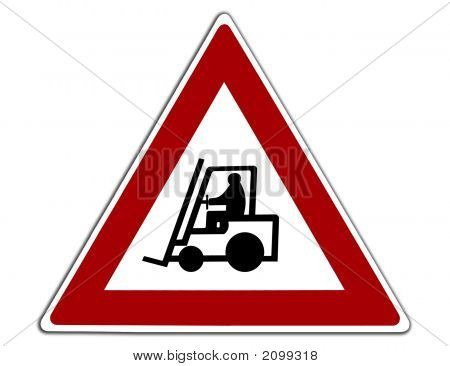 Caution Forklift Trucks Warehouse Sign