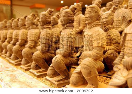 Miniature Terracotta Archer Warriors