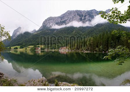 The Hintersee before the Reiteralpe