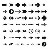 Different Arrow Icon Set, Simple Style poster