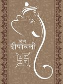 pic of ganpati  - creative artwork background with ganpati - JPG