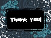 picture of thank you card  - grungy background with thank you pattern banner illustration - JPG