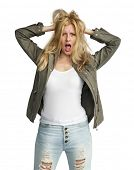 Young Woman Funny Naughty Cheerful Concept poster