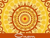 stock photo of pookolam  - creative artwork pattern background for onam celebration - JPG