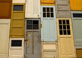 pic of windows doors  - A variety of doors on top of eachother - JPG