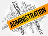 Administration Word Cloud Collage poster