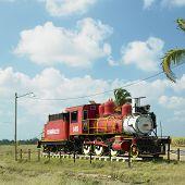 Постер, плакат: Мемориал паровой локомотив Грегорио Арли Manalich сахарного завода Куба