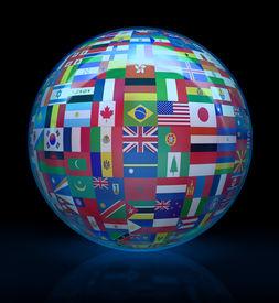 stock photo of world-globe  - Globalize the world - JPG