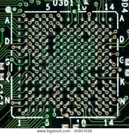 Circuito electrónico de la computadora. Uso de fondo o textura