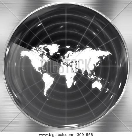 Welt-Radarschirm