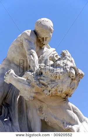 Statues in La Recoleta Cemetery